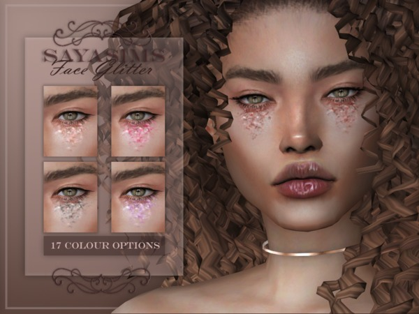 Face Glitter by SayaSims at TSR image 2017 Sims 4 Updates