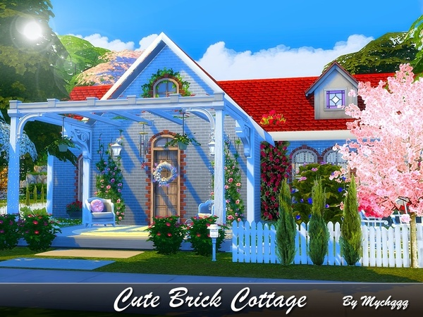 Cute Brick Cottage by MychQQQ at TSR image 2020 Sims 4 Updates