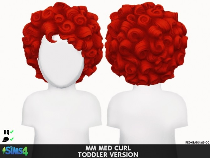 Sims 4 MM MED CURL TODDLER VERSION by Thiago Mitchell at REDHEADSIMS