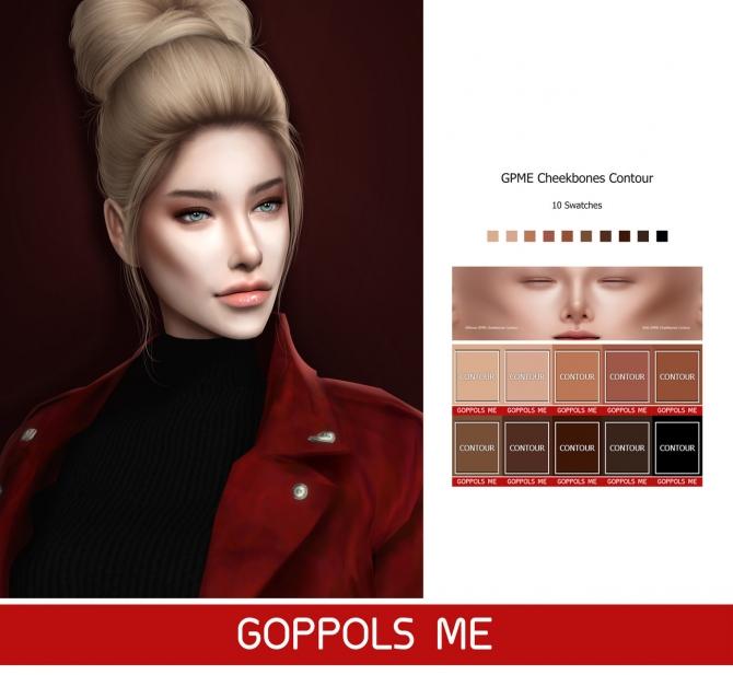 Gpme Cheekbones Contour At Goppols Me 187 Sims 4 Updates