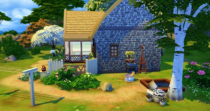 Sims 4 Chaumière starter home at Studio Sims Creation