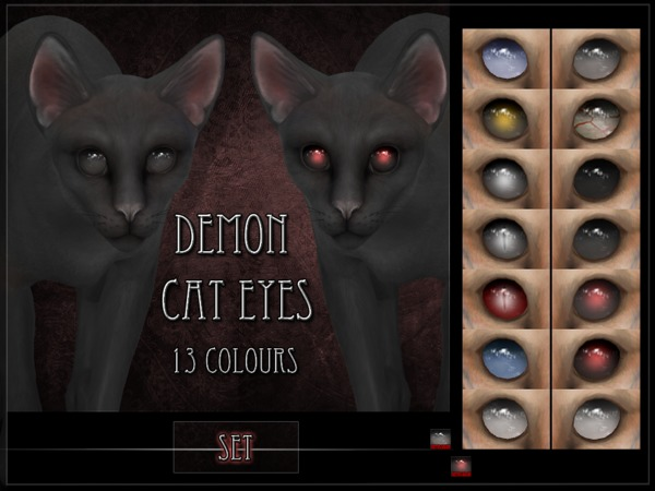 Demon Cat Eyes Set by RemusSirion at TSR image 2029 Sims 4 Updates