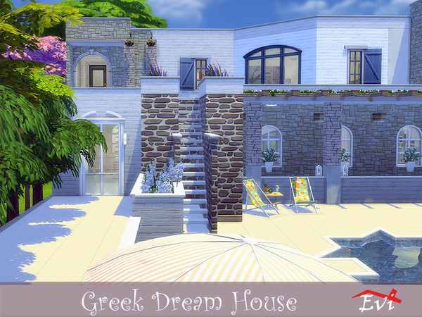 Greek Dream House by evi at TSR image 2030 Sims 4 Updates