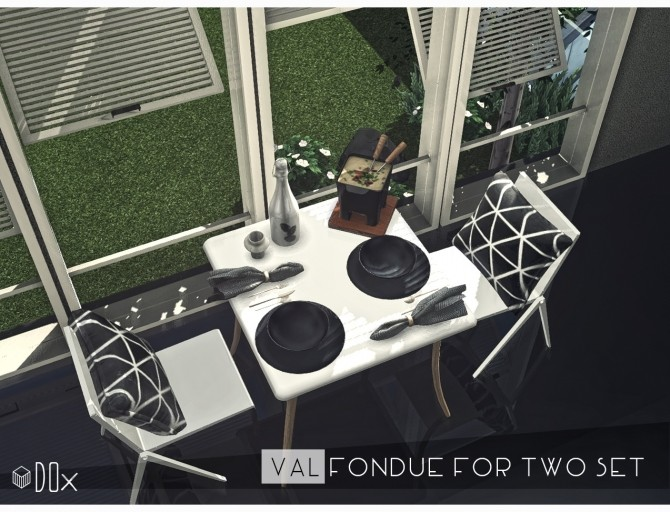 Sims 4 VAL Fondue For Two Set at DOX