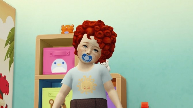 MM MED CURL TODDLER VERSION by Thiago Mitchell at REDHEADSIMS – Coupure Electrique image 2041 670x377 Sims 4 Updates