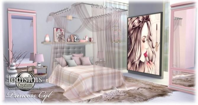 Princess Cyl girly bedroom at Jomsims Creations » Sims 4 Updates