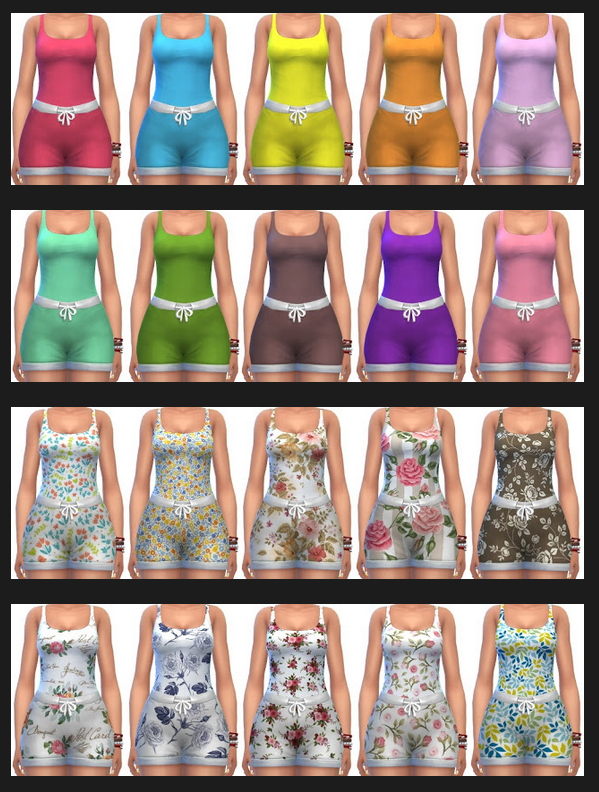Basegame Tops & Shorts Recolors at Annett's Sims 4 Welt image 2094 Sims 4 Updates
