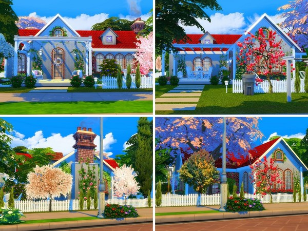 Cute Brick Cottage by MychQQQ at TSR image 2120 Sims 4 Updates