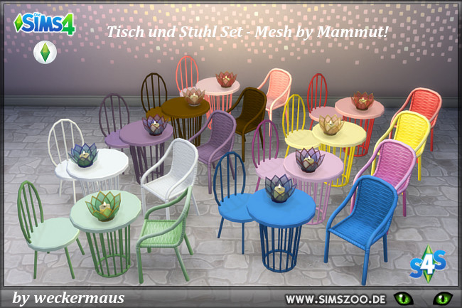 Sims 4 Colorful dinette by weckermaus at Blacky's Sims Zoo