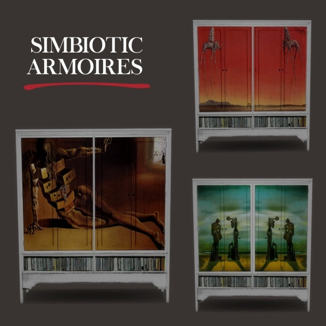 Simbiotic Armoire at Leo Sims image 2122 670x670 Sims 4 Updates