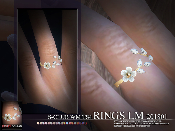 Sims 4 RINGS 201801 LM by S Club WM at TSR