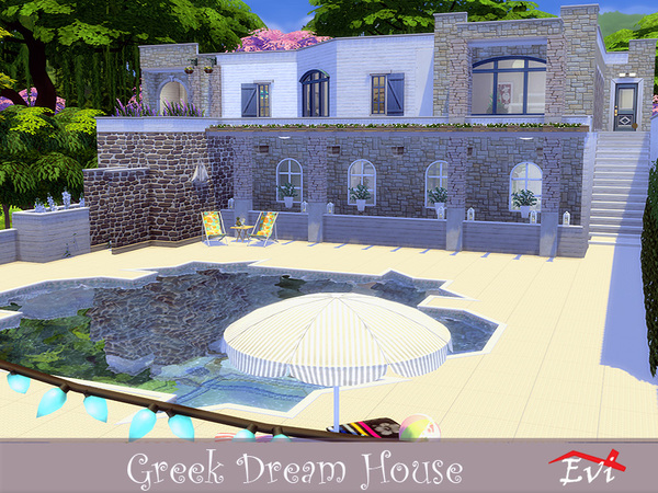 Greek Dream House by evi at TSR image 2130 Sims 4 Updates