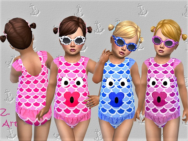 Sims 4 BabeZ 39 funny swimsuit by Zuckerschnute20 at TSR
