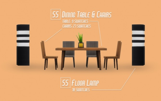 Sims 4 SQUARELY SOPHISTICATED SET at Wyatts Sims