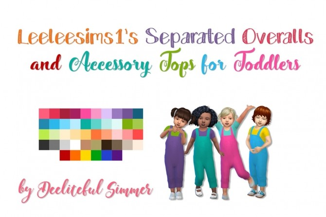 Leeleesims1's separates for toddlers at Deeliteful Simmer image 2219 670x446 Sims 4 Updates