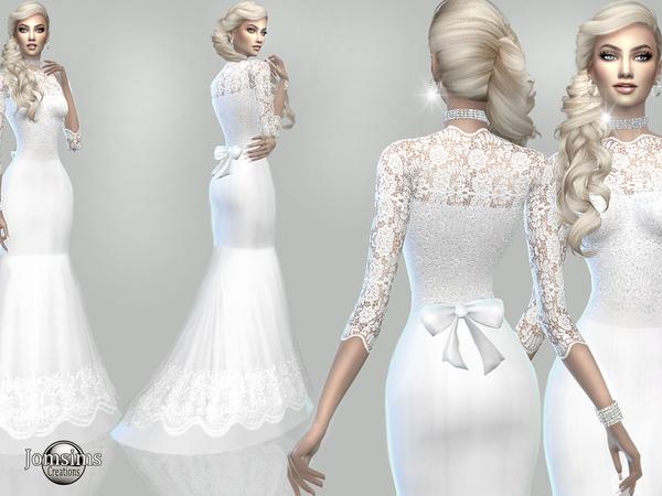 Atanis wedding dress 1 by jomsims at TSR image 2229 Sims 4 Updates