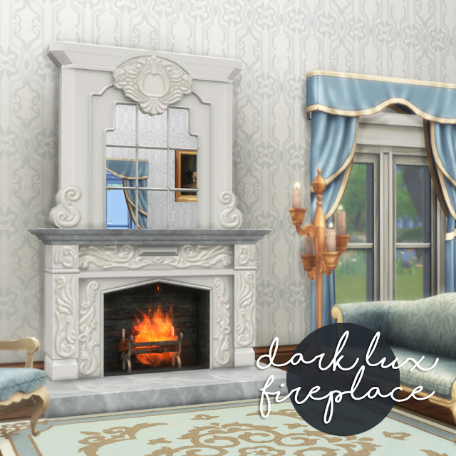 Sims 4 Darl Lux fireplace at Historical Sims Life