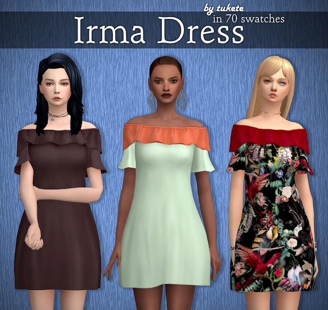 Sims 4 Irma Dress at Tukete