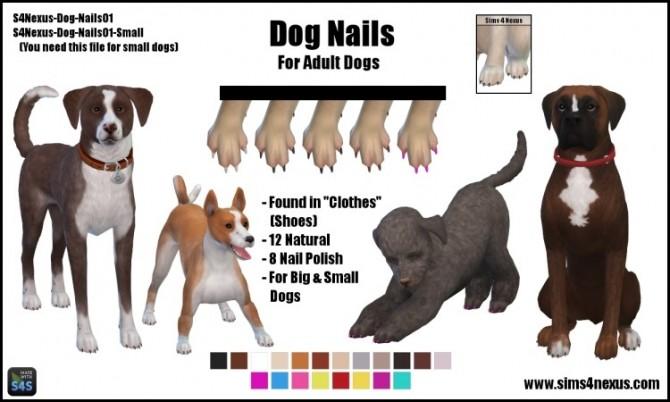 Sims 4 Dog Nails by SamanthaGump at Sims 4 Nexus
