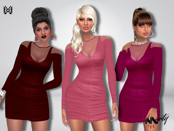 Sims 4 MP Gales Bodycon Dress by MartyP at TSR