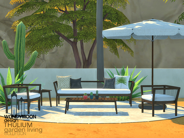 Thulium Garden Living by wondymoon at TSR image 2328 Sims 4 Updates