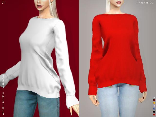 Rouge Sweater VI & VII at Heavendy cc image 2342 Sims 4 Updates