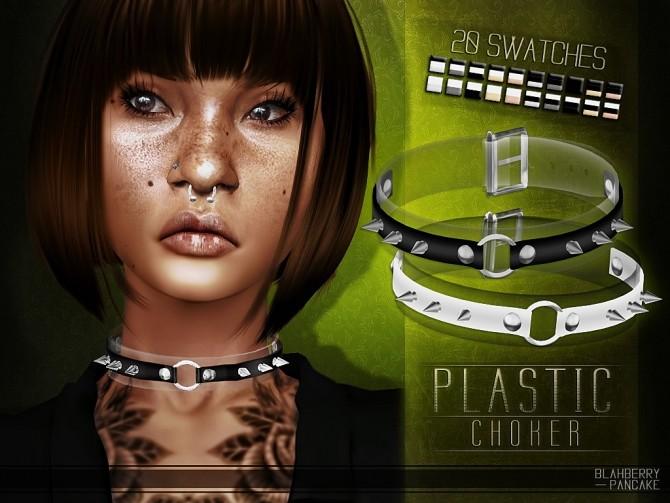 Plastic choker at Blahberry Pancake image 2361 670x503 Sims 4 Updates