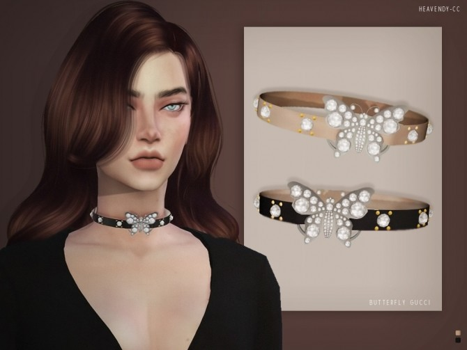 Butterfly Choker at Heavendy cc image 239 670x503 Sims 4 Updates