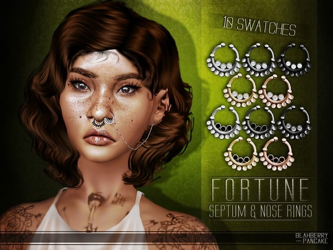 Fortune septum & nose ring at Blahberry Pancake image 240 670x503 Sims 4 Updates