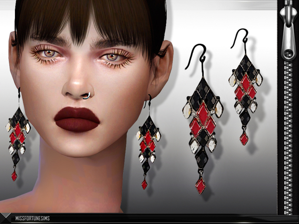 MFS Ludmilla Earrings by MissFortune at TSR image 2410 Sims 4 Updates