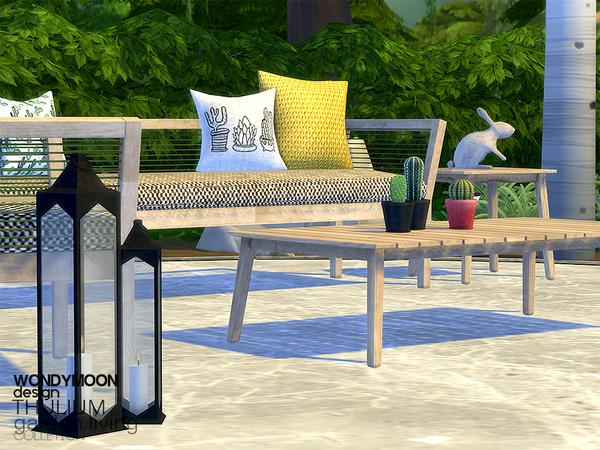 Sims 4 Thulium Garden Living by wondymoon at TSR