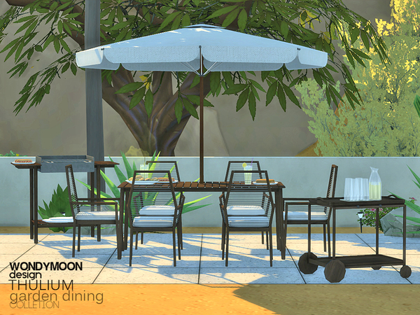 Thulium Garden Dining by wondymoon at TSR image 2424 Sims 4 Updates