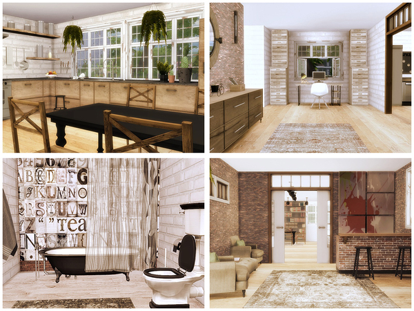 Sims 4 A ray of sunshine house by Danuta720 at TSR