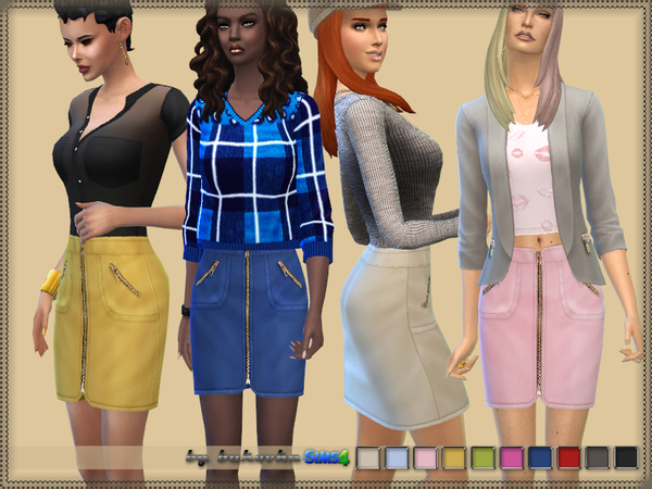 Sims 4 Skirt & Zipper by bukovka at TSR