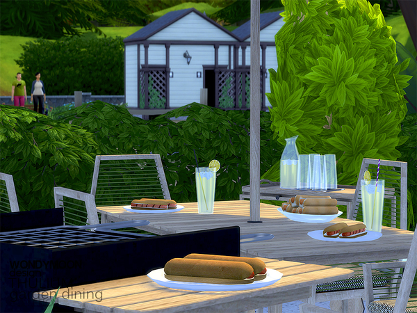 Thulium Garden Dining by wondymoon at TSR image 2520 Sims 4 Updates