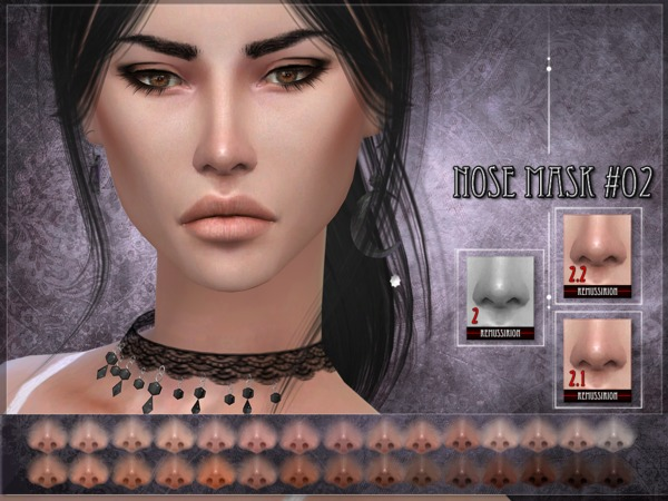 Nose mask 02 SET by RemusSirion at TSR image 255 Sims 4 Updates