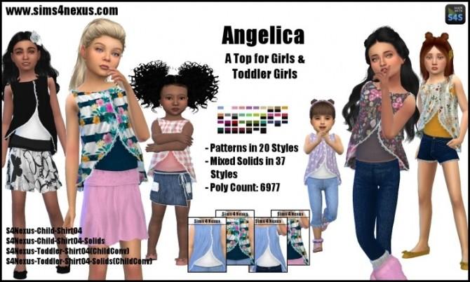 Sims 4 Angelica tops by SamanthaGump at Sims 4 Nexus