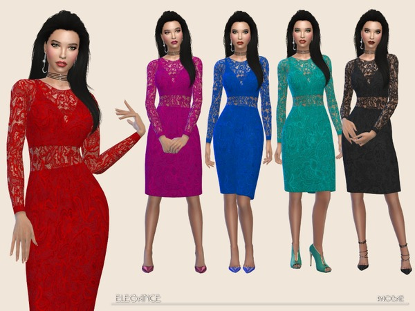 Sims 4 Elegance simple and classy dress by Paogae at TSR
