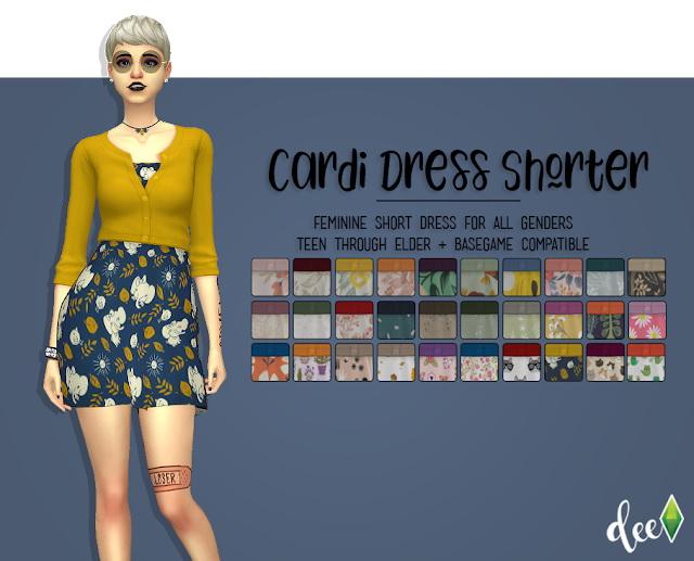 Sims 4 Cardi Dress Shorter at Deetron Sims
