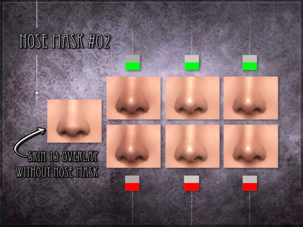 Nose mask 02 SET by RemusSirion at TSR image 275 Sims 4 Updates