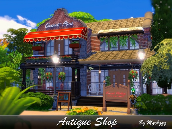 Antique Shop by MychQQQ at TSR image 28 Sims 4 Updates