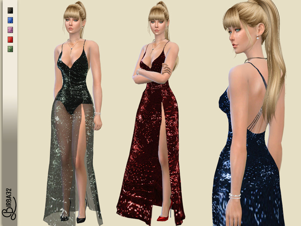 Valentine Long Dress by Birba32 at TSR image 2810 Sims 4 Updates