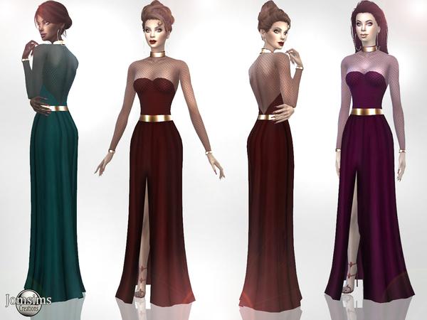 Sims 4 Xaness dress by jomsims at TSR