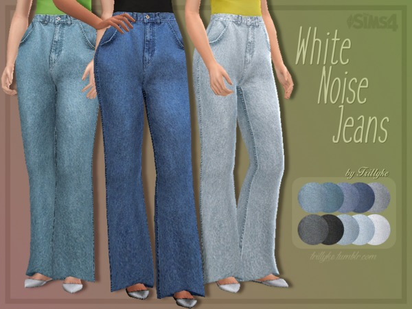 White Noise Jeans by Trillyke at TSR image 2820 Sims 4 Updates