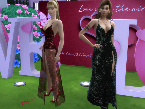 Valentine Long Dress by Birba32 at TSR image 2910 Sims 4 Updates