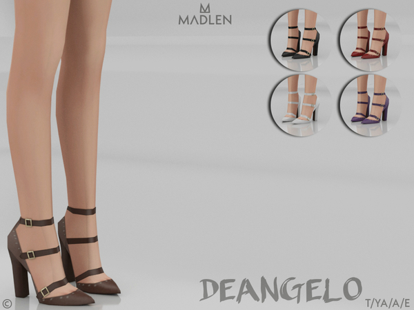 Sims 4 Madlen Deangelo Shoes by MJ95 at TSR