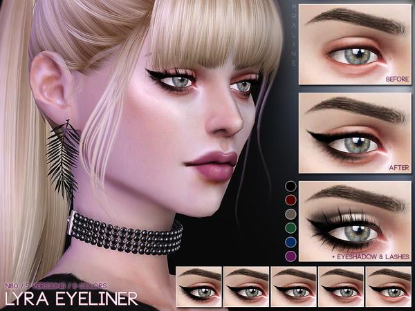 Lyra Eyeliner N80 by Pralinesims at TSR image 294 Sims 4 Updates