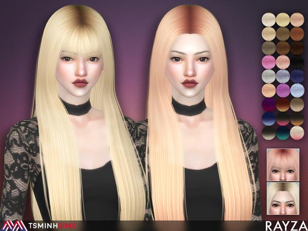Rayza Hair 56 Set by TsminhSims at TSR image 3012 Sims 4 Updates