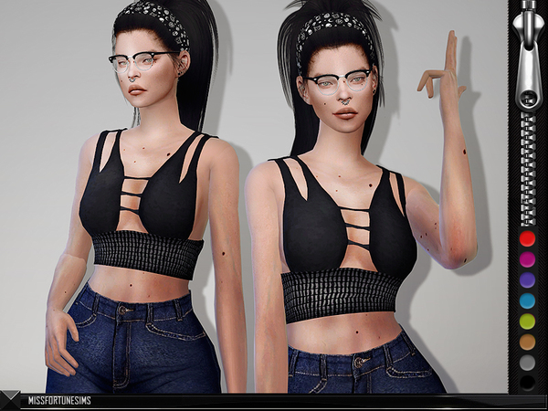 Sims 4 Stella Top by MissFortune at TSR