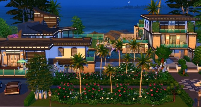 Sims 4 Caribbean lot by Angerouge at Studio Sims Creation